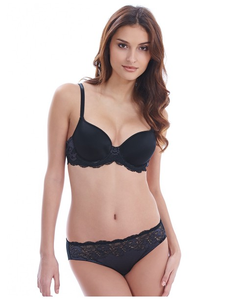 Lace Affair Graphite Contour Bra