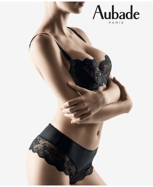 Aubade Aubade a L'Amour Black St Tropez Brief