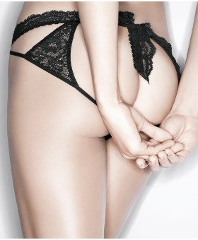 Boite a Desir Mini Coeur Cheeky Brief Black