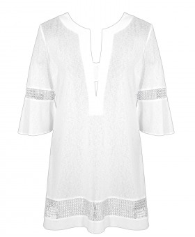 Cover Up Crystal Tunic White Dresses & Tunics