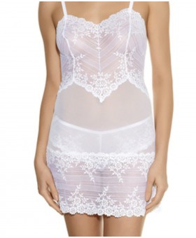 Embrace Lace Chemise White Chemises