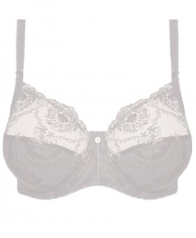 Lilly Rose White Full Cup Bra Non Padded
