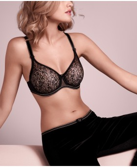 Allure Black Seamless Bra