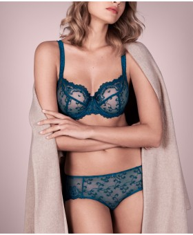 Carmen Bleu Iris Low Neck Bra