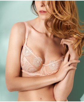 Lilly Rose Peach Low Necked Bra