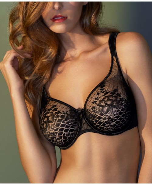 Lilly Rose Underwired Bra Black Full Cup