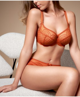 Norah Orange Cuivre Low Necked Bra