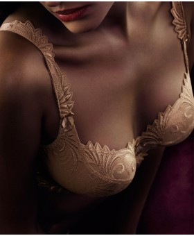 Thalia Caramel Low Neck Bra