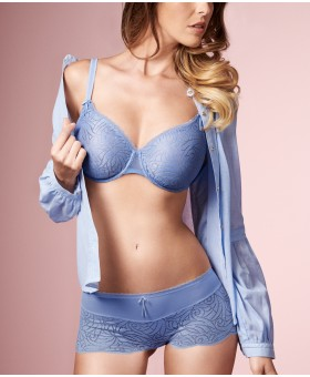 Verity Sky Blue Low Neck Bra Balcony
