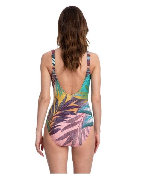 Gottex Desert Sky Multi Brw Square Neck Swimsuit
