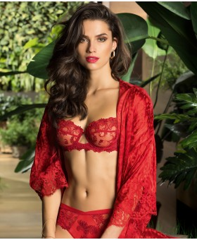 Dressing Floral Solaire Red Robe