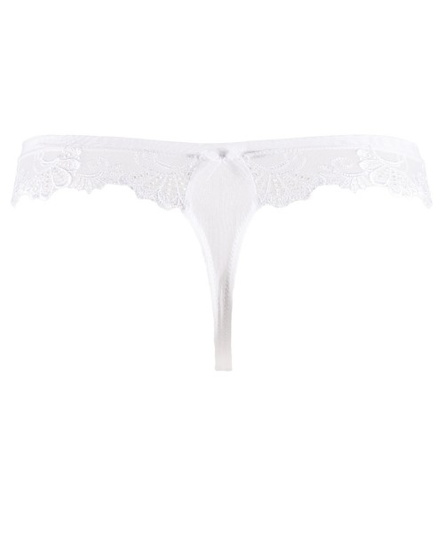 Dressing Floral Thong White Thong