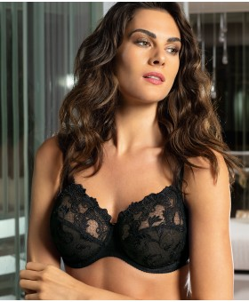 Guipure Charming Black Full Cup Bra