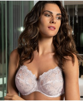 Guipure Charming White Full Cup Bra