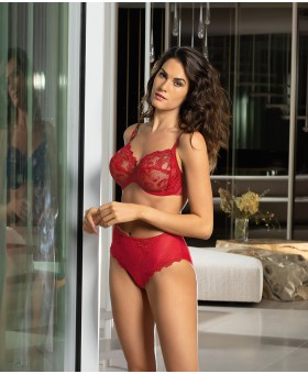 Guipure Charming Red Full Cup Bra