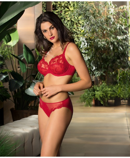 Lise Charmel Guipure Charming Red Full Cup Bra