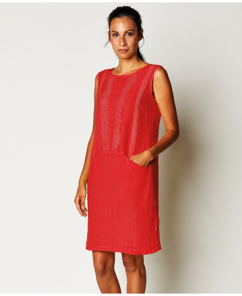La Fabbrica Del Lino Linen Short Dress