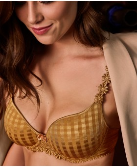 Avero Gold Heart Bra