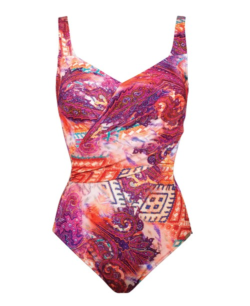 Maryan Mehlhorn Carnival V Neck Swimsuit