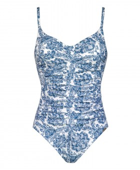 Porcelain White Tile Underwired Swimsuit