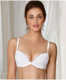 Dressing Floral Push-Up Bra White Plunge
