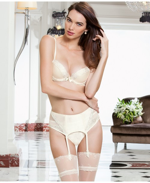 Love Magicienne Silk Three-Quarter Cup Bra Ivory Full Cup