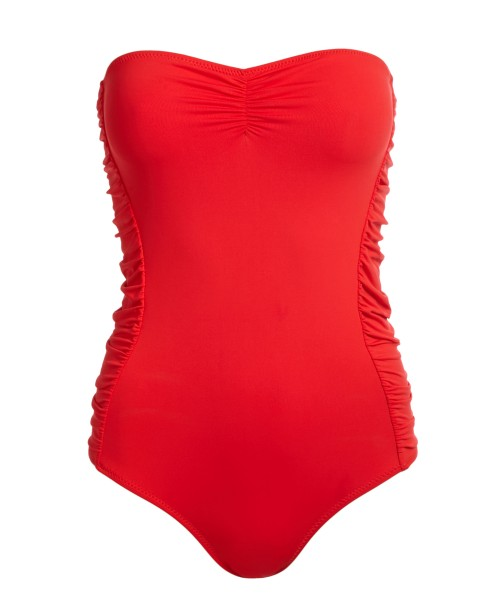 Sydney Bandeau Swimsuit Red Sydney