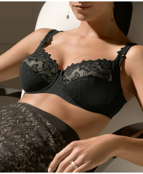 Deauville Underwired Bra Black Full Cup