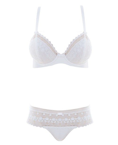 Purity Classic Underwired Bra White Full Cup