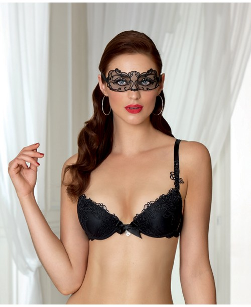 Soir De Venise Push-Up Bra Black Plunge