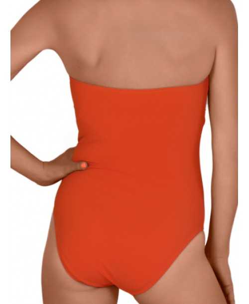 Caiman Lohan Bandeau Swimsuit Orange Swimwear