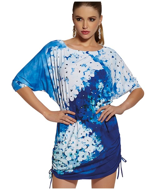 Roidal Blue Flower Isset Tunic
