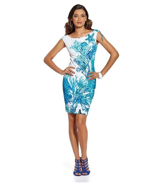 Roidal Coral Teldi Fitted Dress