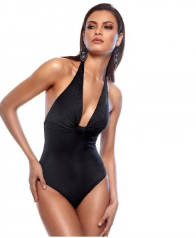 Diamond Galaxia Halter Neck Swimsuit