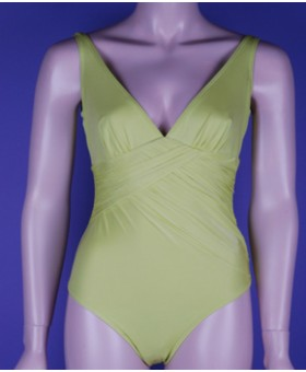 Garli Moulded Cup Swimsuit Lime Swimwear