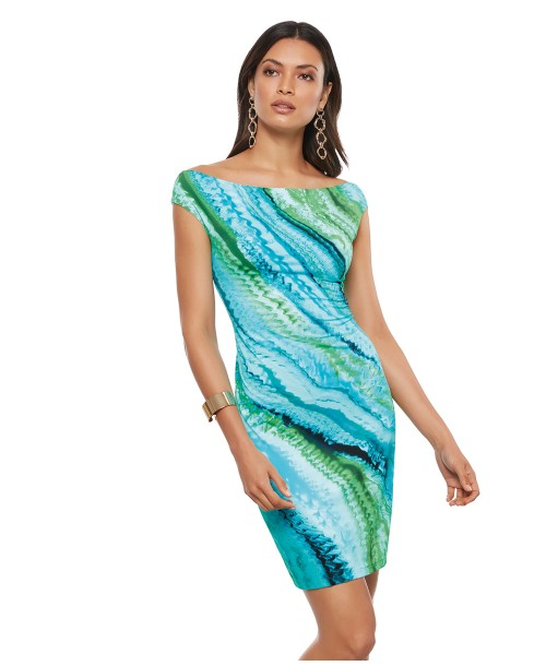 Roidal Oceanic Ghany Fitted Dress