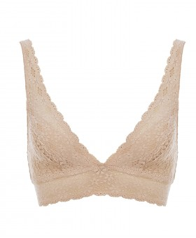 A Halo Natural Soft Cup Wireless Bra