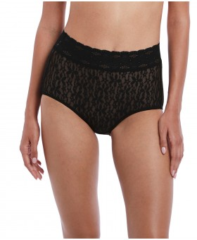 Halo Lace Black Full Brief