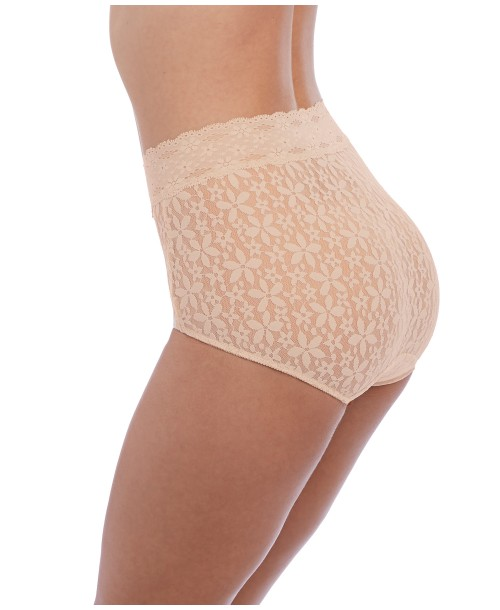Halo Lace Nude Full Brief